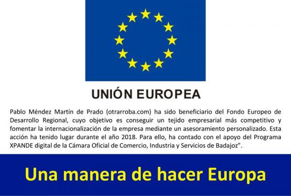 Subvenções Xpande Digital fundo do FEDER - União Europeia